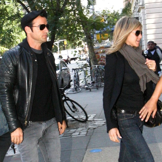 Jennifer Aniston & Justin Theroux Lunch in West Village Pictures