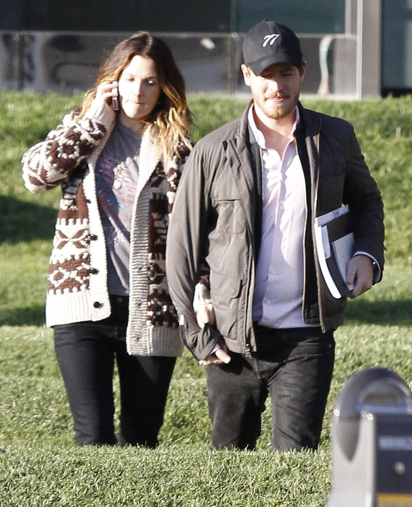 Drew Barrymore and Will Kopelman held hands.
