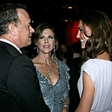 Kate Middleton with Tom Hanks and Rita Wilson at BAFTA Brits to Watch dinner.