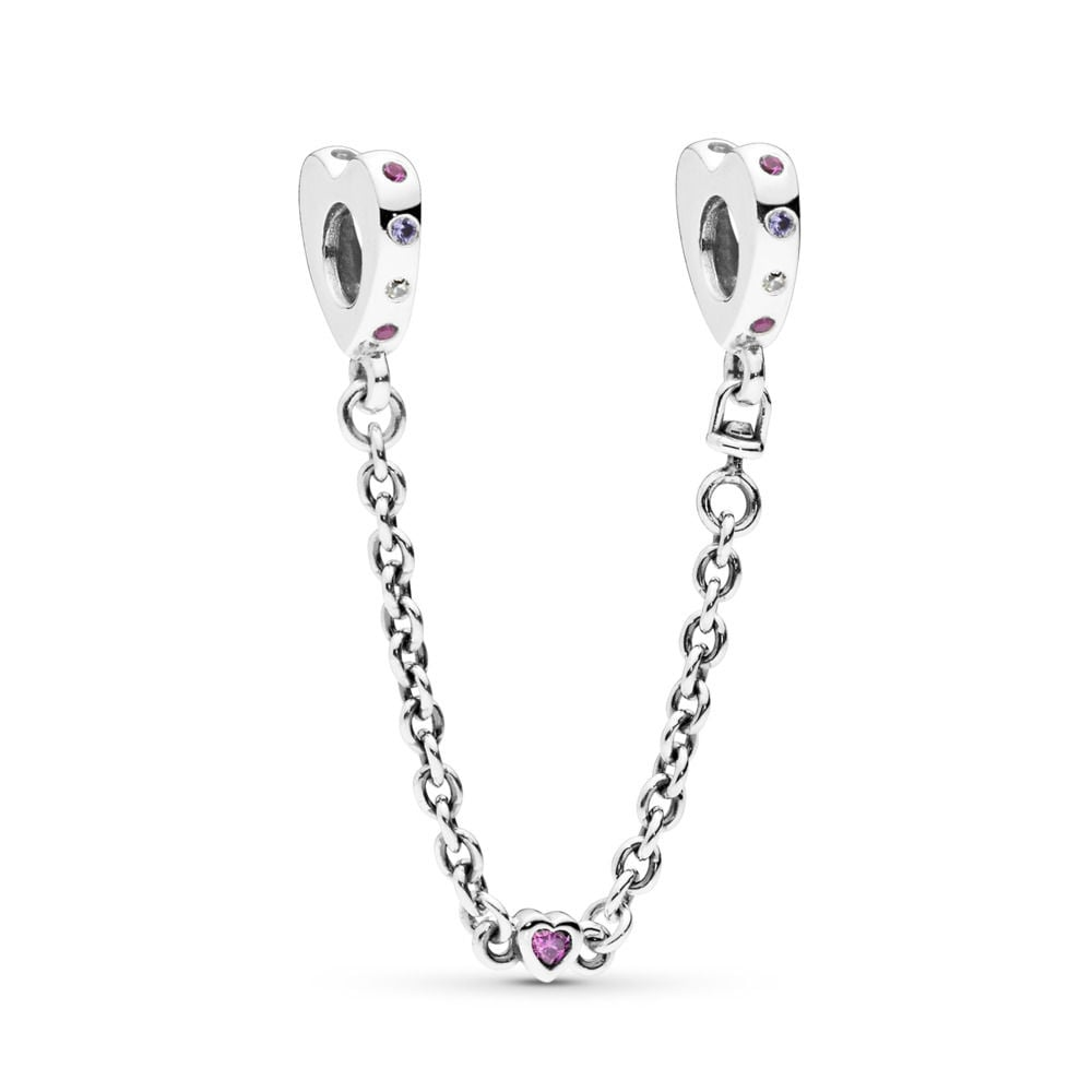 Pandora Bright Hearts Safety Chain