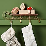 Wooden Sleigh Stocking Holder