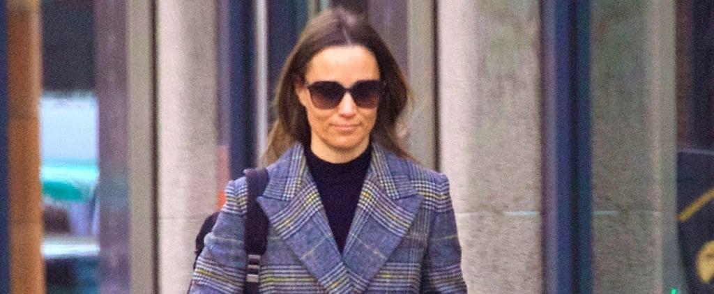 Pippa Middleton Wearing Tweed Coat