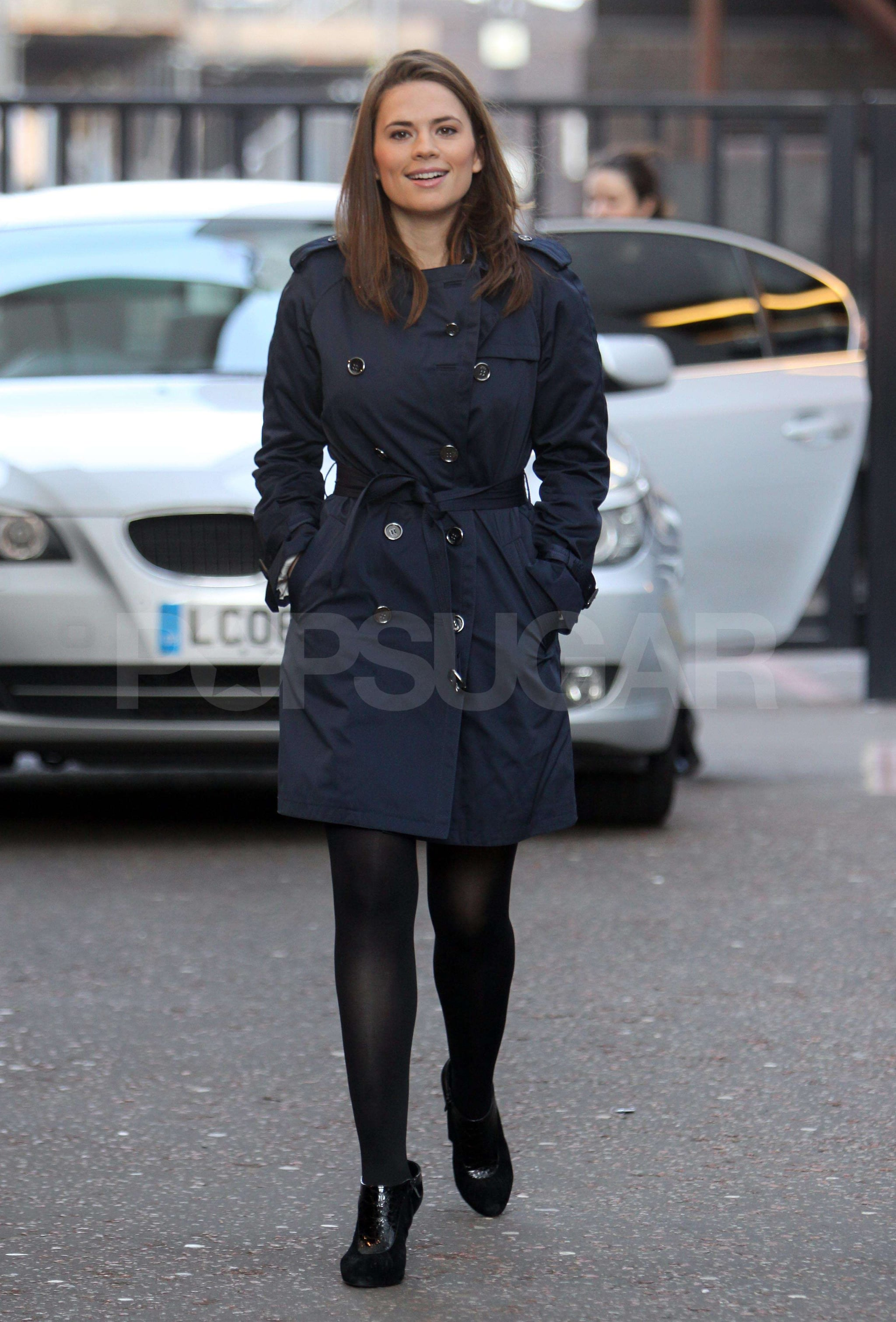 Photos Of Hayley Atwell At Gmtv Cast As Peggy Carter In