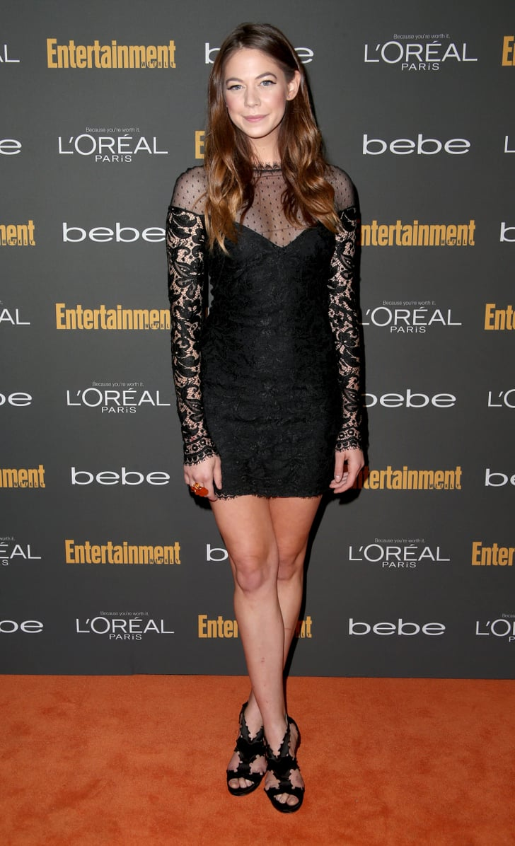 Analeigh Tipton Went With A Black Emilio Pucci Minidress