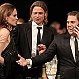 Angelina Jolie, Brad Pitt, and Jonah Hill