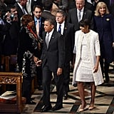 President Barack Obama and First Lady Michelle Obama attended the prayer service the day after the inauguration.