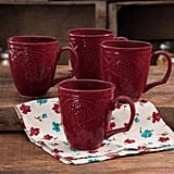 The Pioneer Woman Farmhouse Lace Mug Set, 4-Pack ($14)