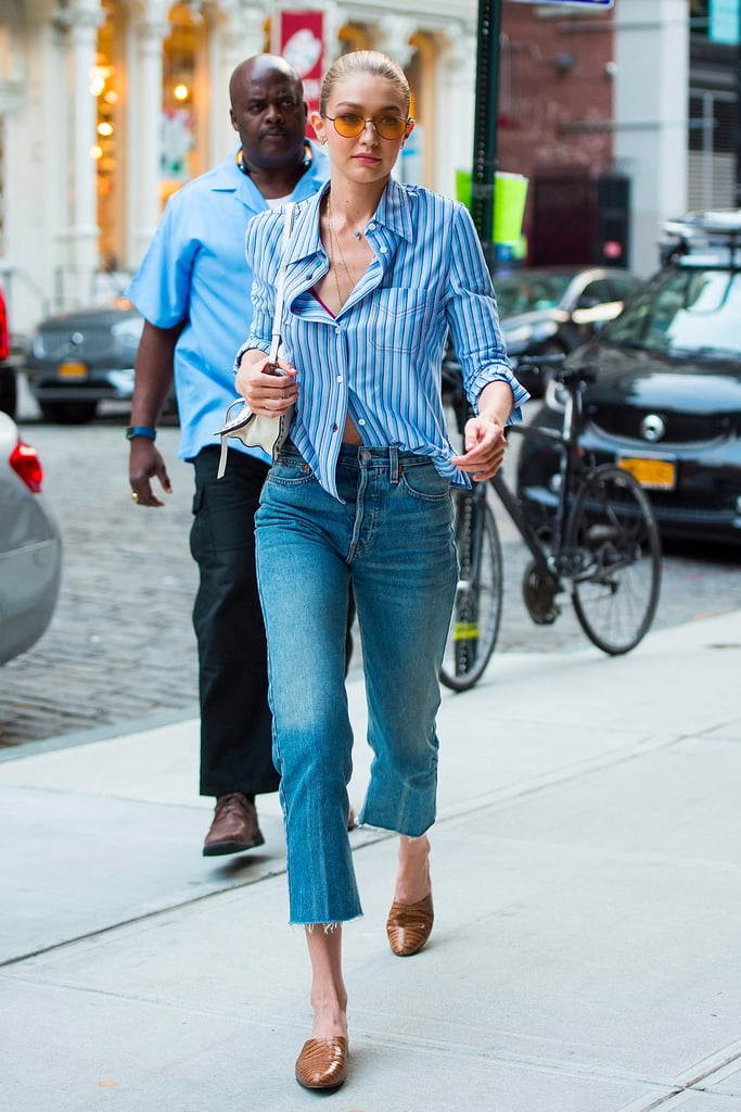 Gigi Hadid Just Found the Perfect Summer Flat to Wear Into Fall