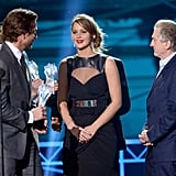Bradley Cooper, Jennifer Lawrence, and Robert De Niro