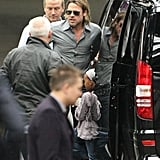 Brad Pitt heads to Scotland.