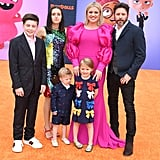 Pictured: Seth Blackstock, Remington Alexander Blackstock, Savannah Blackstock, Kelly Clarkson, River Blackstock, and Brandon Blackstock
