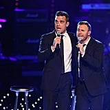 Pictures of Robbie Williams and Gary Barlow