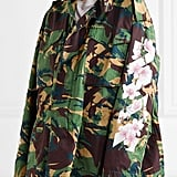 Off-White Camouflage-Print Cotton-Canvas Jacket - Army green