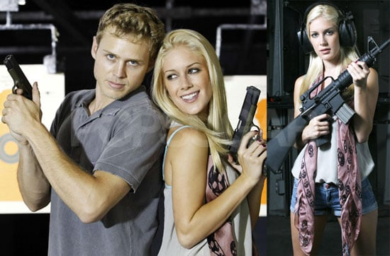Photos of Heidi Montag and Spencer Pratt At the Firing Range with Guns