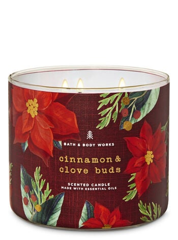 Bath Amp Body Works Cinnamon Amp Clove Buds 3 Wick Candle