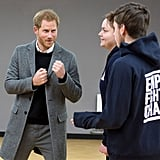 Prince Harry Comforts Boy Who Lost His Father in Bristol