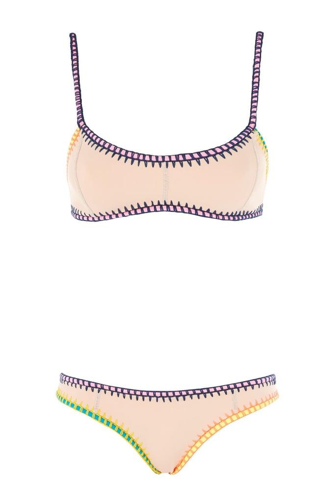 Topshop Ribbon Crochet Bikini Set