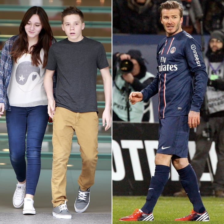 David Beckham Gears Up For a Big Game While Brooklyn Hangs With Relatives in LA
