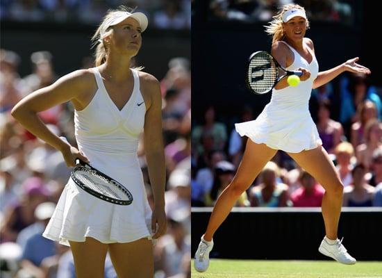 Photos of Maria Sharapova at Wimbledon in White Tennis Dress Talking about Rick Owens