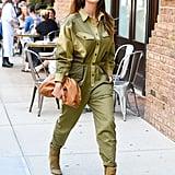 Lily Aldridge's Green Jumpsuit