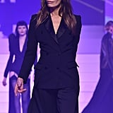 Laurence Treil on the Jean-Paul Gaultier Runway