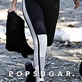 Selena Gomez Black and White Puma Leggings December 2018