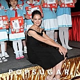 Katie Holmes posed with kids in Taiwan.