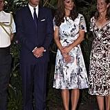 Kate wore her L K Bennett Harper shoes in light beige.