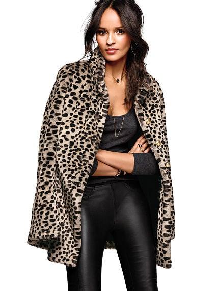 Victoria's Secret Faux Fur Leopard Coat ($148, originally $198)