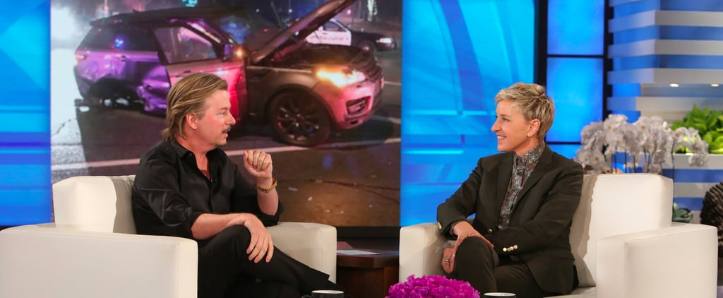 David Spade Has Ellen in Stitches While Recounting His Recent Car Accident