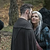 Vikings Lagertha and Heahmund Kissing Photos