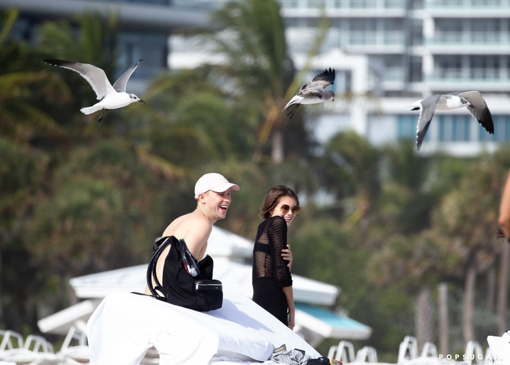 Kaia Gerber and Tommy Dorfman Get Swarmed by Birds in Miami