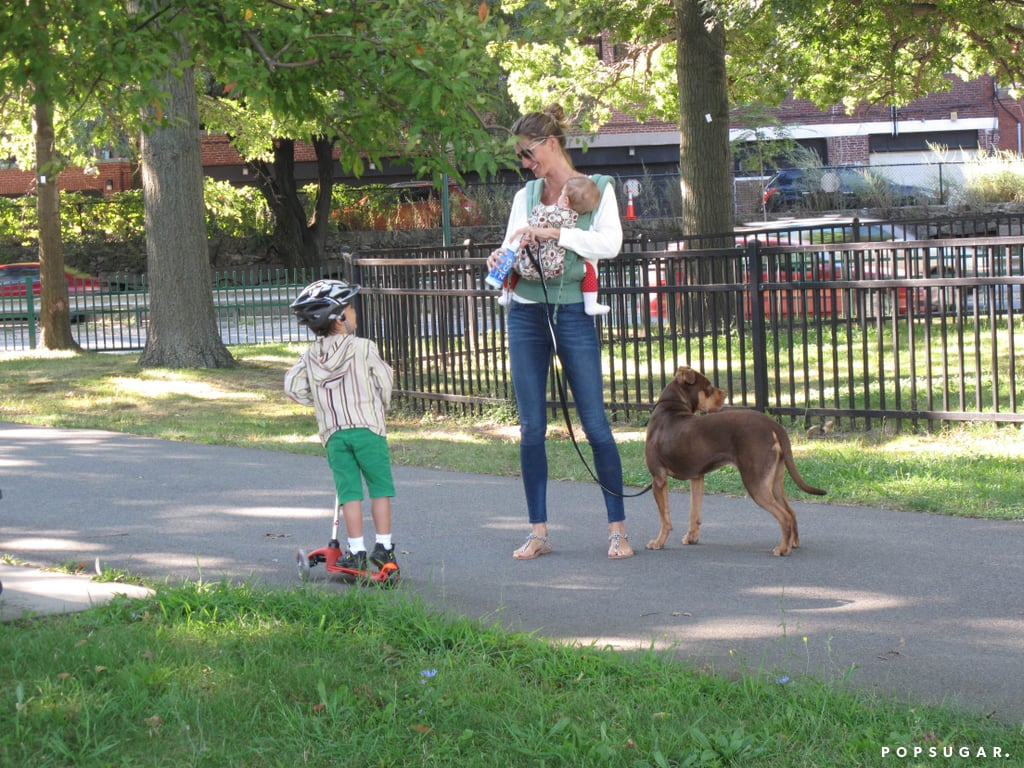 Gisele Bündchen was joined by her son, Ben, and daughter, Vivian, for a stroll in Boston.