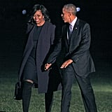 POTUS and FLOTUS strolled hand-in-hand on the White House lawn in November.