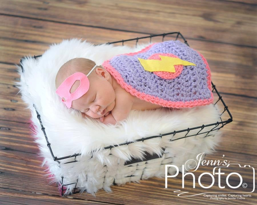 Newborn Superhero Mask and Cape
