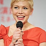 Michelle Williams at a Tokyo press conference.