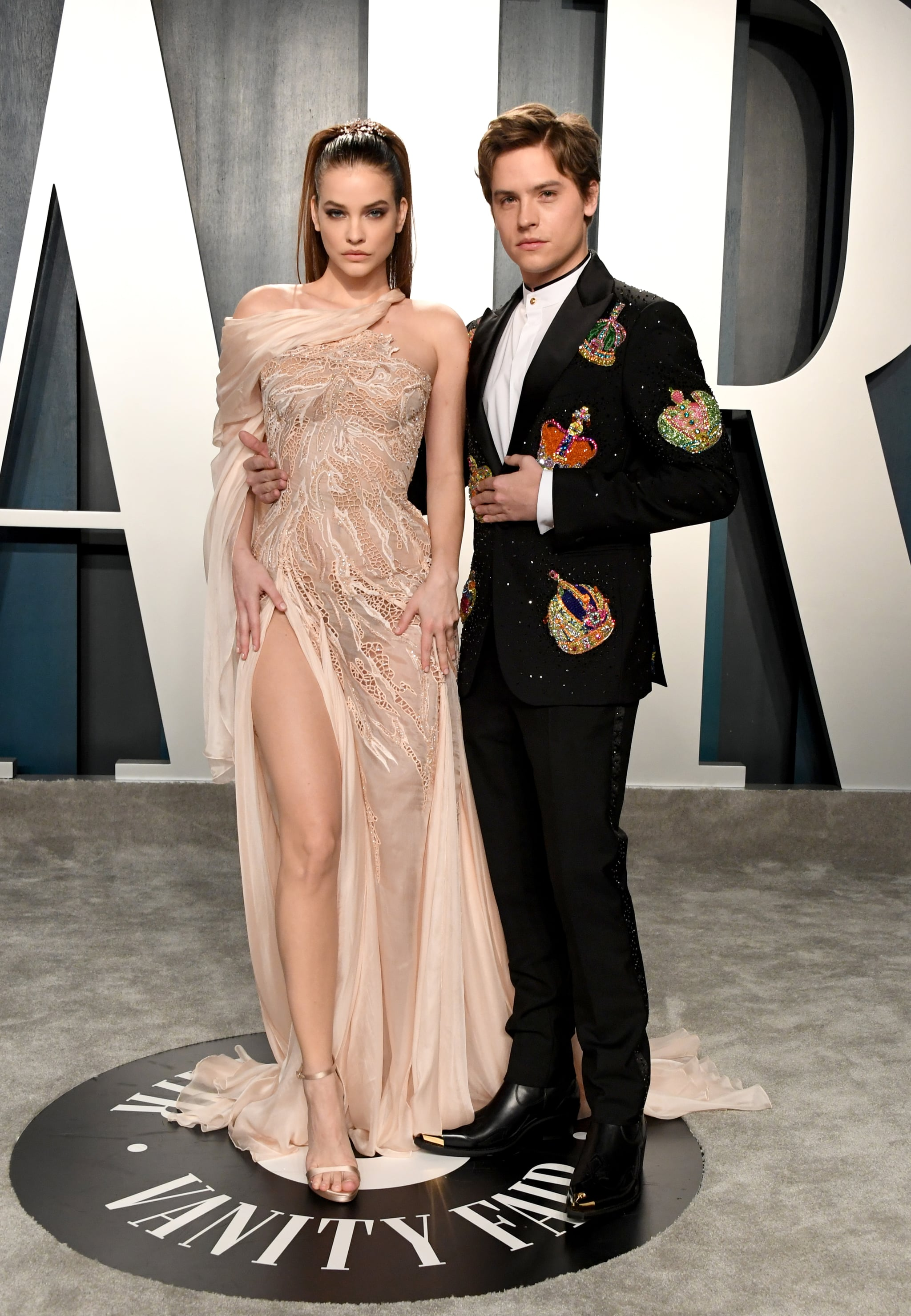 Barbara Palvin And Dylan Sprouse At The Vanity Fair Oscars Afterparty 2020 The Glamour Continues These Oscars Afterparty Dresses Will Leave You In Awe Popsugar Fashion Photo 11