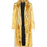 Calvin Klein Faux Fur and PVC Coat