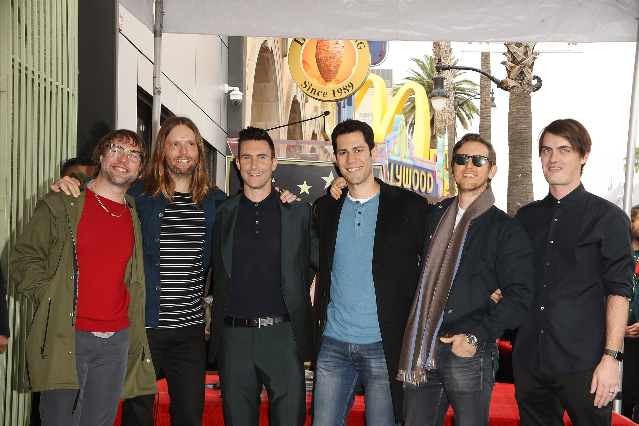 HOLLYWOOD, CA - FEBRUARY 10:  Adam Levine and Maroon 5 attend the ceremony honouring Adam Levine with a Star on The Hollywood Walk of Fame held on February 10, 2017 in Hollywood, California.  (Photo by Michael Tran/FilmMagic)