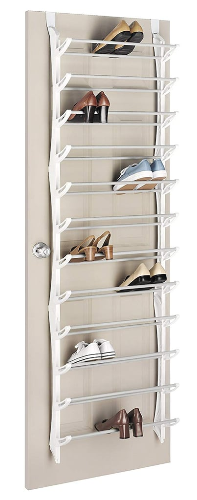 Heels can be hard to store in most over-the-door racks, but that's no problem with the Whitmor Over The Door Rack ($26). The slanted shelves are perfect for heels, and each one can fold up to save space when needed.