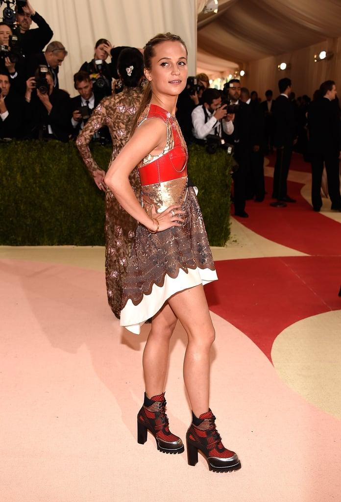 Alicia Vikander Louis Vuitton Dress at Met Gala 2016