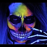 Neon and Blacklight Skull