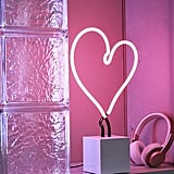 Neon Mfg. Heart Neon Sign Table Lamp
