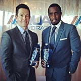 Why did Sean Combs and Mark Wahlberg link up? To promote a new water called AQUAhydrate.  Source: Instagram user iamdiddy