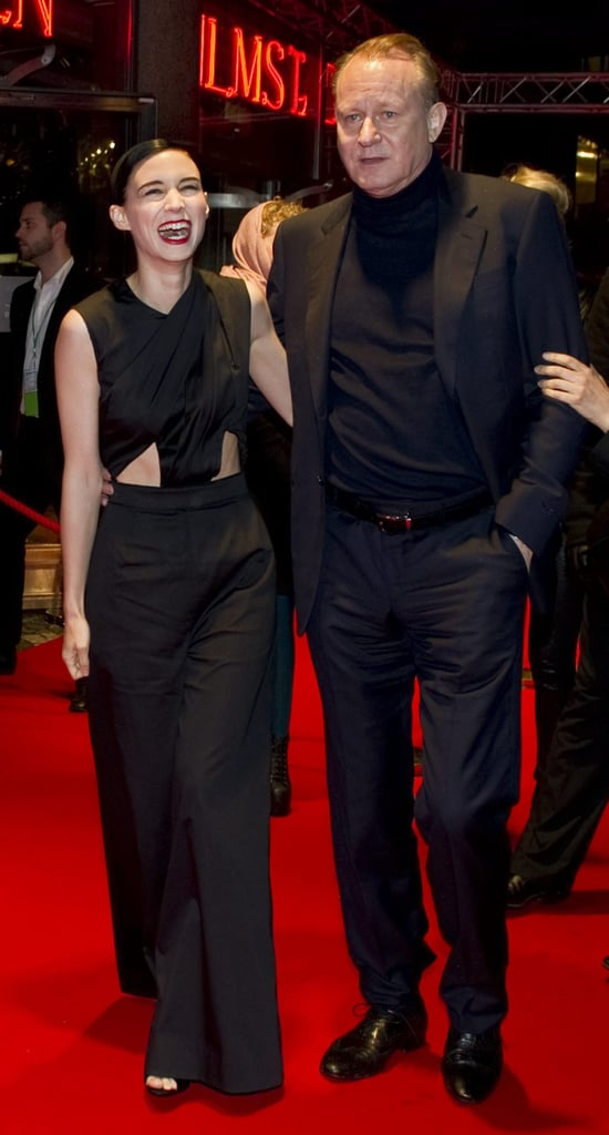 Rooney Mara and Stellan Skarsgard hit the red carpet together in Stockholm.