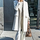 Karlie Kloss worked the Winter whites look during Fashion Week.