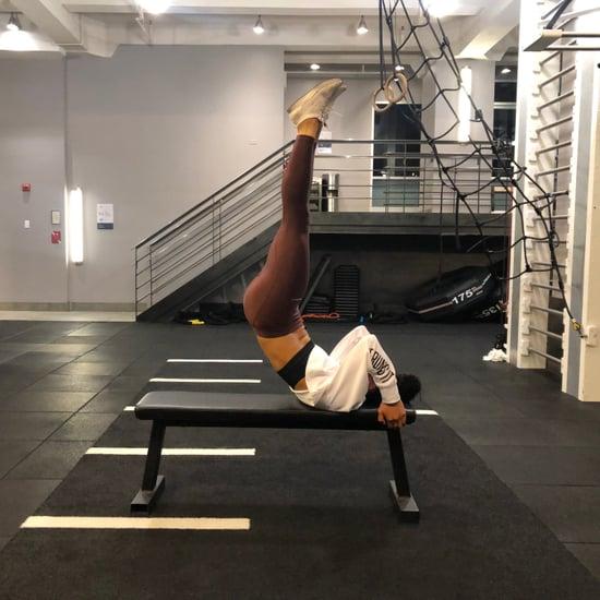 كيفية أداء تمرين رفع الساقين الممدودين ودفع الجسم للأعلى