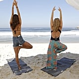 Alessandra knows there's nothing like practicing yoga on the beach.