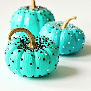 Glamorous Decorated Pumpkins
