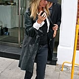 Kate Moss with husband Jamie Hince running errands.